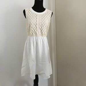 NWOT cream lace dress